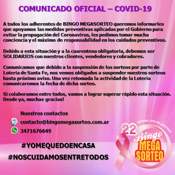 Comunicado Oficial – COVID-19