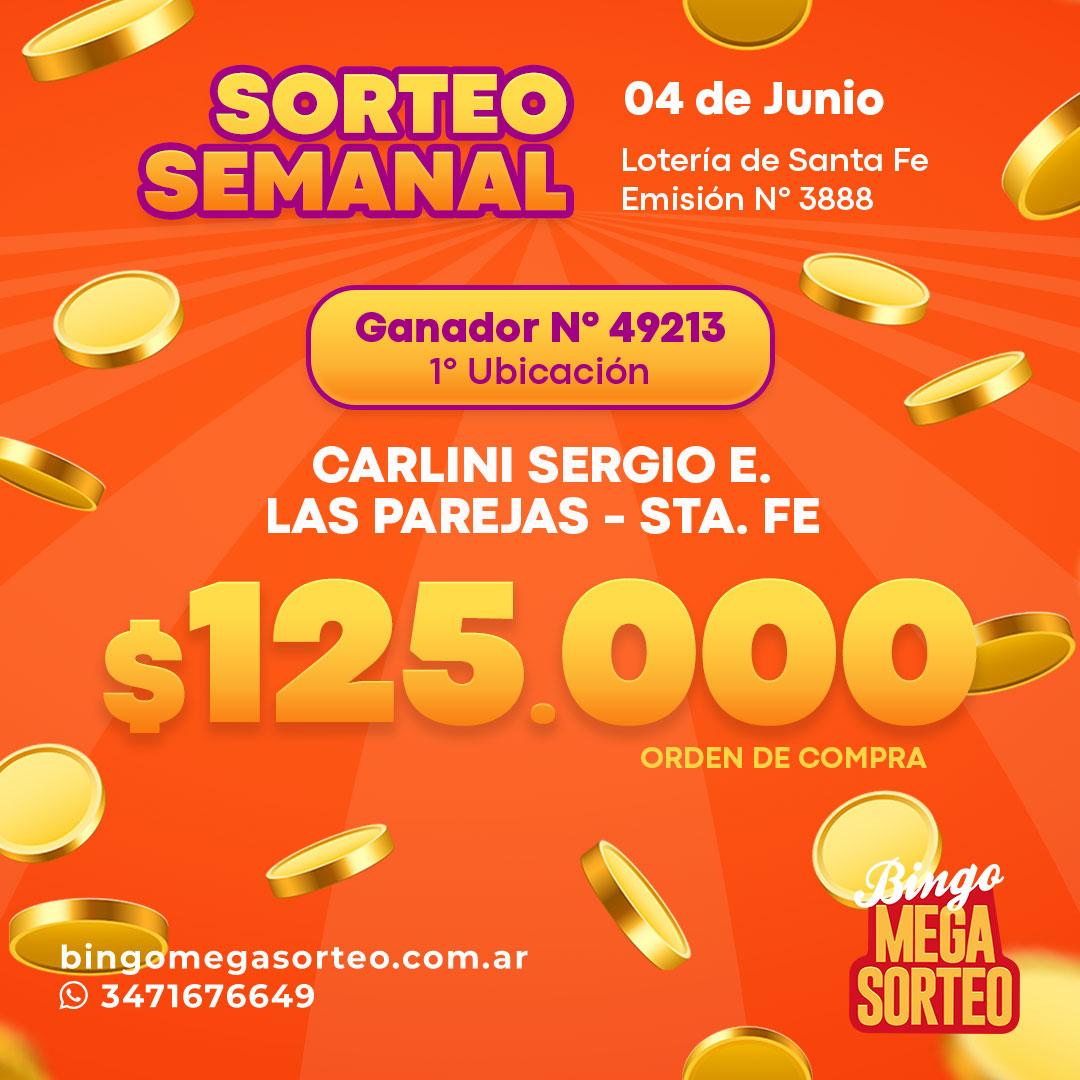 Sorteo Semanal Junio 04/06/2021 – 23º Bingo Mega Sorteo
