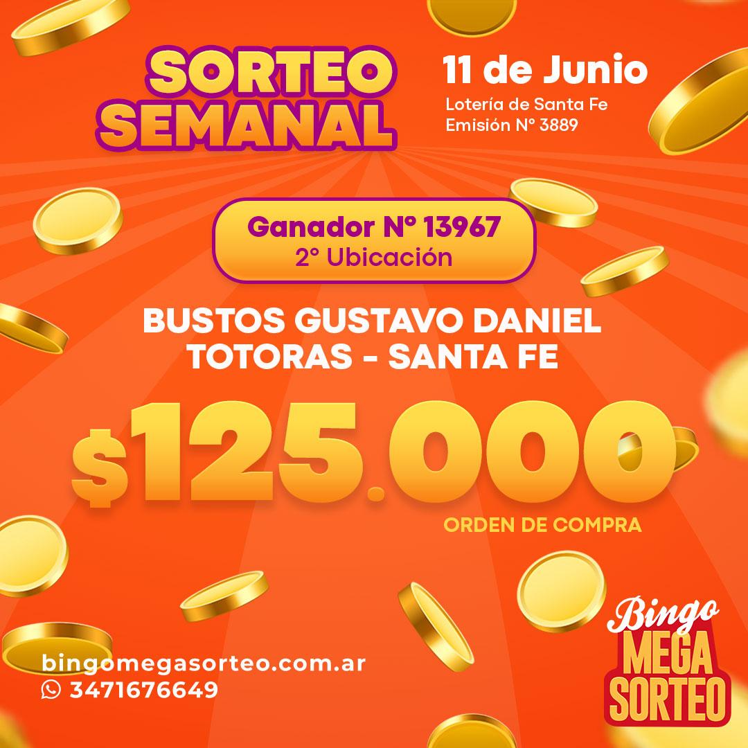 Sorteo Semanal Junio 11/06/2021 – 23º Bingo Mega Sorteo