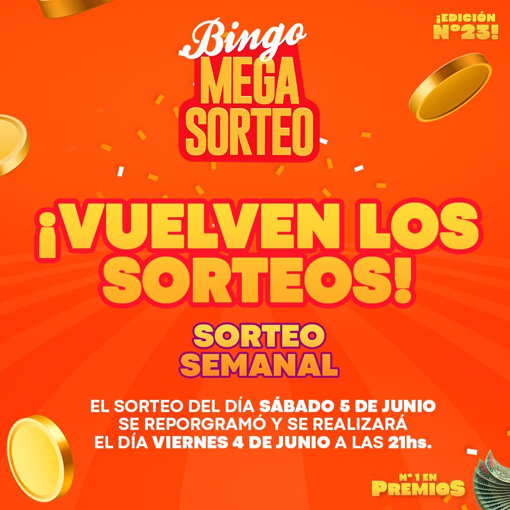 VUELVEN LOS SORTEOS !!!