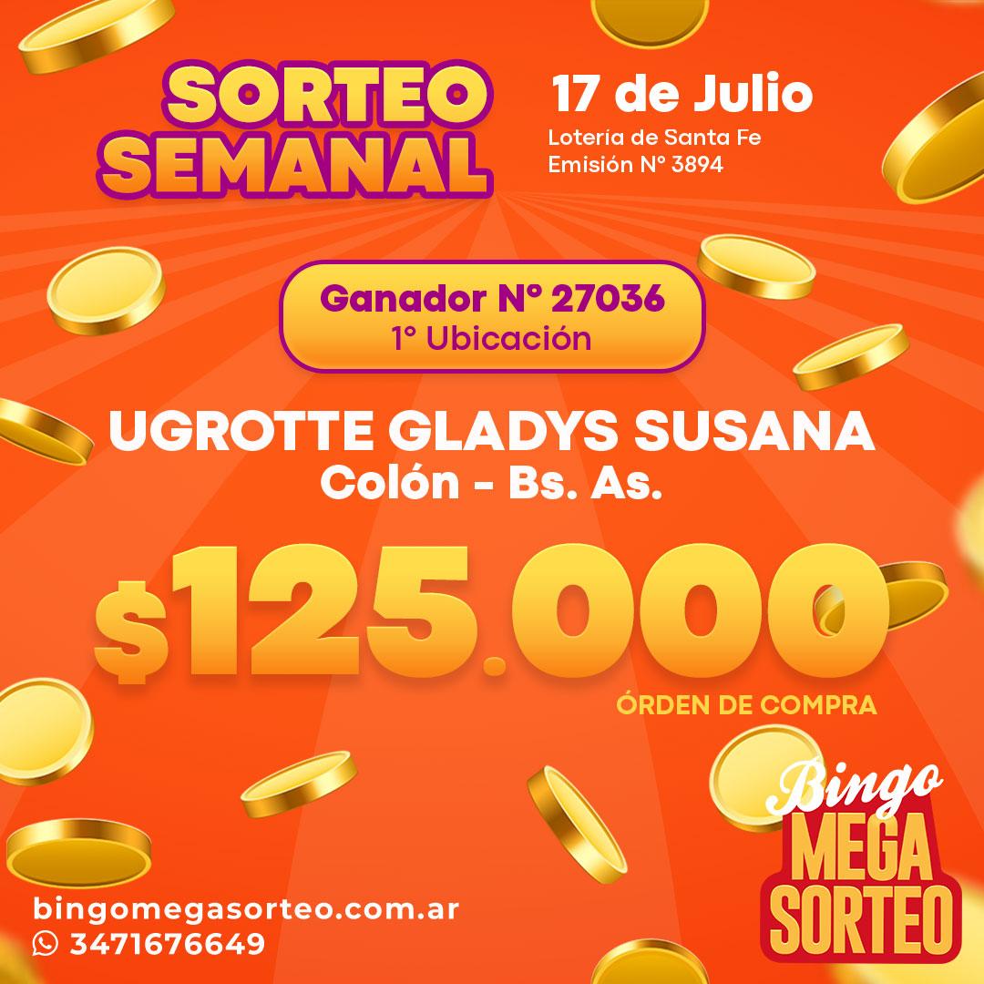 Sorteo Semanal 17/07/2021 – 23º Bingo Mega Sorteo