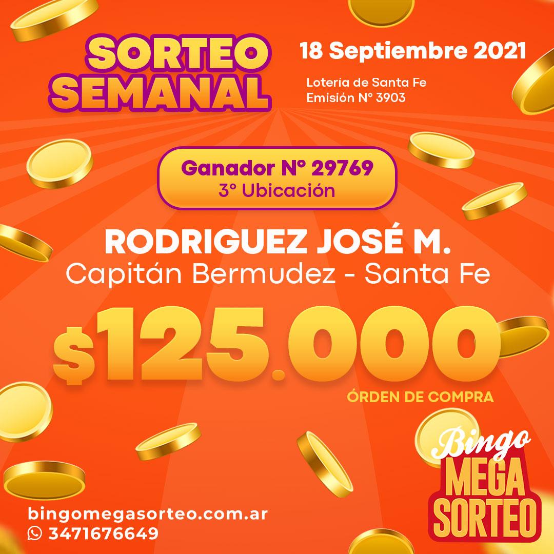 Sorteo Semanal 18/09/2021 – 23º Bingo Mega Sorteo